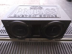 "2 12 ""Lightning Audio Speaker with ProBox for Sale in South Houston, TX"