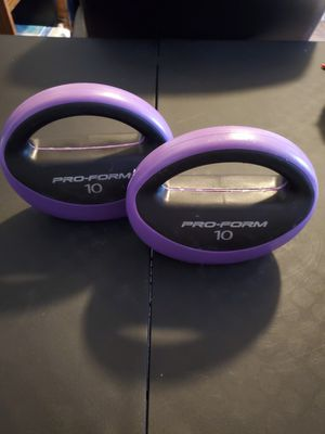 Pro-Form dumbbells black and purple 10lb $10 for Sale in Tyler, TX