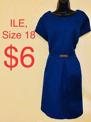 ILE, Blue Short Sleeve Dress, Size 18 for Sale in Phoenix, AZ