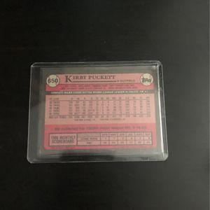 KIRBY PUCKETT Baseball Card for Sale in Marietta, GA