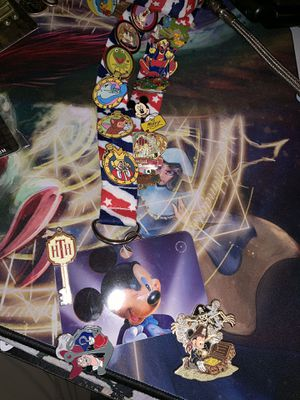 Disney cast lanyard hidden Mickey collectible pins for Sale in Las Vegas, NV