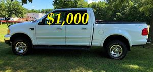$1,OOO I'm seling URGENTLY 2OO2 Ford F-150 XLT Super Crew Cab 4-Door Pickup Everything is working great! Runs great and fun to drive!!!! for Sale in Arlington, VA