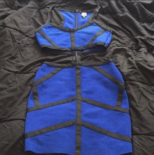 Bebe blue/black cutout bandage dress for Sale in Washington, DC