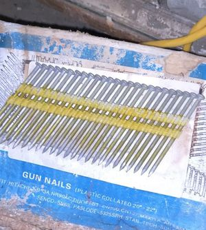 Two boxes collated gun nails for Sale in Sherborn, MA