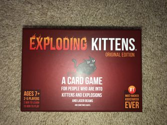 Explosing Kittens + All 3 Expansions for Sale in Hyattsville,  MD