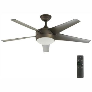 H.D.C. 52 in. LED Indoor Oil-Rubbed Bronze Ceiling Fan with Light and Remote for Sale in Dallas, TX