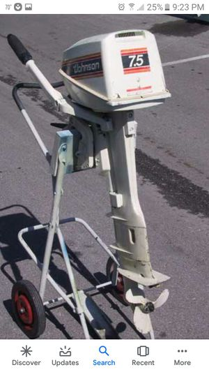 7.5 johnson outboard motor for Sale in US