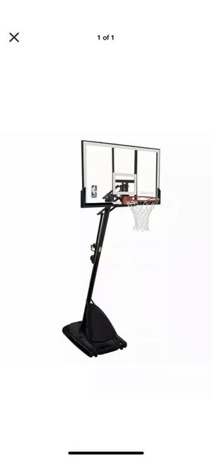 "Spalding 54"" Portable Basketball System Adjustable Hoop Backboard Angled Pole for Sale in Miramar, FL"