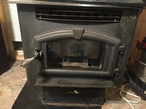 This is an American Harvest Model 6039 Corn & Pellet Multi-Fuel Stove. for Sale in Coalton, WV