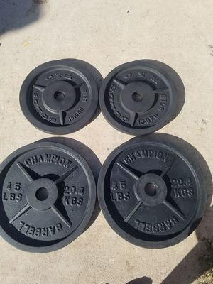 Olympic size weights for Sale in Colton, CA