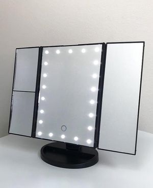 """Brand new $20 each Tri-fold LED Vanity Makeup 13.5""""x9.5"""" Beauty Mirror Touch Screen Light up Magnifying for Sale in Pico Rivera, CA"""