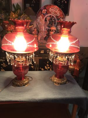 Two beautiful antique lamps for Sale in Ontario, CA
