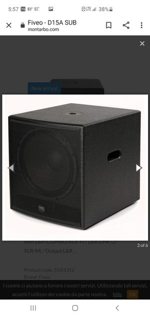 """MONTARBO 15"""" HIGH END POWERED SUBWOOFER 600 RMS BRAND NEW IN BOX MADE IN ITALY 🇮🇹 for Sale in Hialeah, FL"""