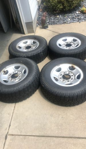 Chevy 8lug tires and wheels for Sale in Wheeling, WV