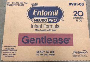 GENTLEASE - Enfamil NEUROPRO Infant Formula Milk-based with Iron. (Mead Johnson Company product) 2 OZ for Sale in Los Angeles, CA