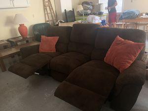 Super comfortable microfiber corduroy sofa recliner for Sale in Sunriver, OR