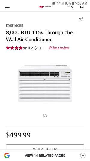 LG Through Wall AC Unit for Sale in Alexandria, VA