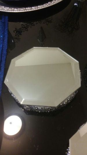 2pc octagon mirror coaster set for Sale in Peoria, IL