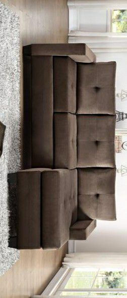 🍒 $39 Down - Best Offer 🍒 SPECIAL]Phelps Chocolate Reversible Sofa Chaise | 9789 for Sale in Houston, TX