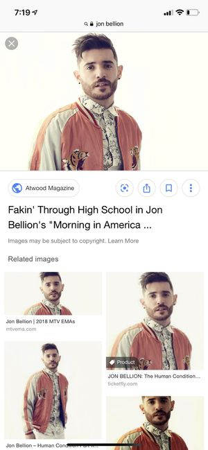 Two tickets to Jon bellion at Mohegan sun August 8th for Sale in New Haven, CT