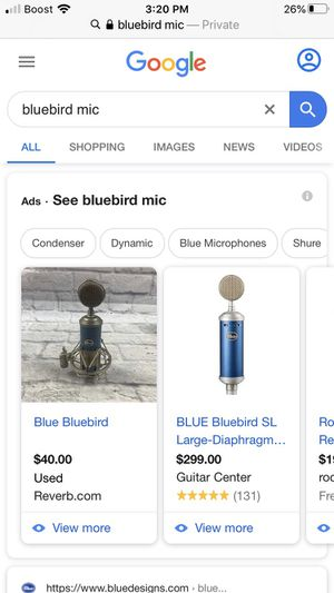 Blue bird mic for Sale in Columbus, OH