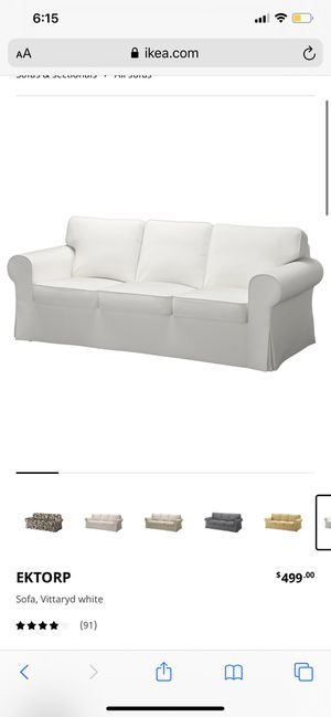 2 Ektorp couches white! for Sale in Banning, CA