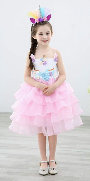 Girls Unicorn Dress Pageant Flower Costume Kids Unicorn Fancy Dress Tutu Ball Gowns for Sale in Paramount, CA