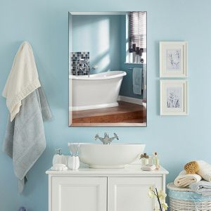 24 x 36 Rectangle Wall Mounted Bathroom Beveled Mirror for Sale in Wildomar, CA