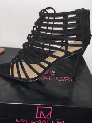 Material Girl Black Lace up Heels SIZE 9 WOMENS BRAND NEW IN BOX WITH RECEIPT for Sale in Germantown, MD