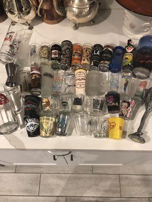 34 GLASSES SHOTS + 4 Cups Collection for Sale in Phoenix, AZ