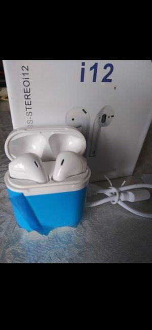Power earpods i12 for Sale in Agua Dulce, CA