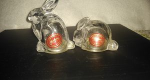 GORHAM Crystal rabbit salt and pepper shakers for Sale in Saginaw, TX