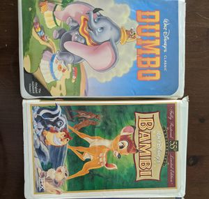 Set of 2 Disney VHS tapes for Sale in San Dimas, CA