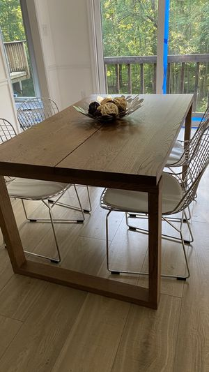 Wood dining table and four chairs for Sale in Burke, VA