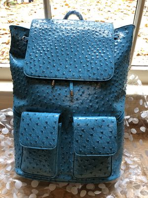 Chic tennis bag aqua leather for Sale in Sandy Springs, GA