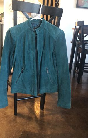 Bernardo Blue REAL Leather Jacket for Sale in Denver, CO