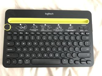 Logitech Bluetooth Multi-Device Keyboard K480 – Black – Works with Windows and Mac Computers, Android and iOS Tablets and Smartphones for Sale in Chino Hills,  CA