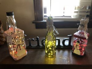 Home made decorative bottles for Sale in Wenatchee, WA