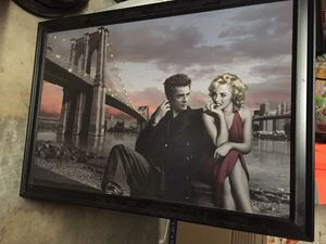 Poster size Marilyn Monroe canvas poster. for Sale in Fresno, CA