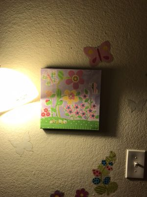 Butterfly & girls room wall art decor for Sale in Chesapeake, VA