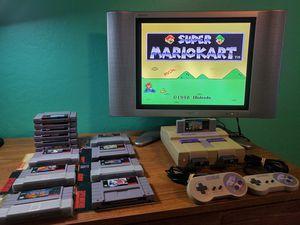 Nintendo SNES Bundle 2 Controllers 14 Games for Sale in Phoenix, AZ
