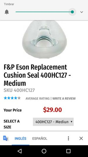 Eson replacement cushion seal for cpap machine for Sale in Puyallup, WA