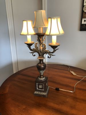 Cast Brass 1850's lamp. Italian antique. Excellent condition for Sale in Encinitas, CA