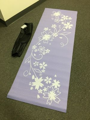 Brand new yoga mat with carry bag floor exercise mat 68x24x0.24 inches for Sale in Montebello, CA