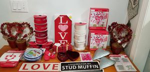 Valentine's Day Kids Crafts, Ribbon, Heart Potted Flower Plants, Decor New for Sale in Billerica, MA