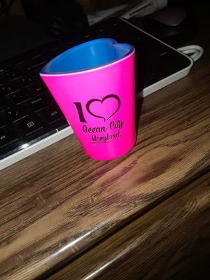 Ocean city shot glass heart shape for Sale in Linden, PA