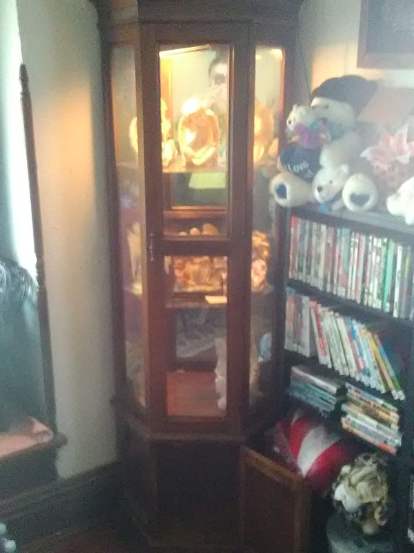 Lighted Corner Curio Cabinet For Sale In Toledo Oh Offerup