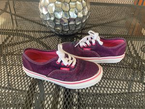 Vans girls glitter tenis shoes size 13 1/2 for Sale in Fontana, CA