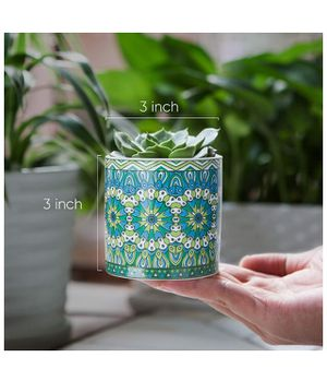 Succulent Plant Pots-3Inch Cylindrical Ceramic Planter for Cactus,Succulent Planting,with Bamboo Trays,Pack of 4 for Sale in Corona, CA
