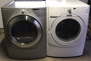 Washing Machine And Electric Dryer Set Super Capacity Plus ((Free Delivery) for Sale in Mesa, AZ